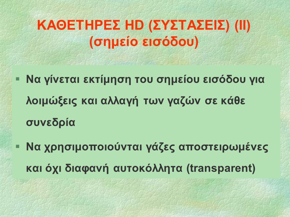 ΚΑΘΕΤΗΡΕΣ HD (ΣΥΣΤΑΣΕΙΣ) (ΙΙ) (σημείο εισόδου)