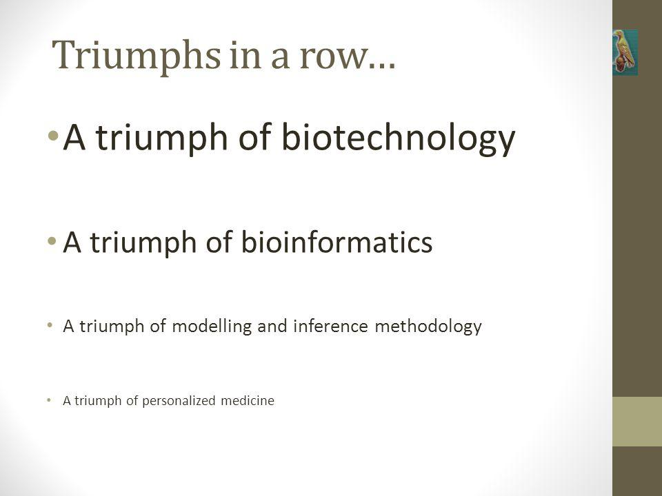 Triumphs in a row… A triumph of biotechnology