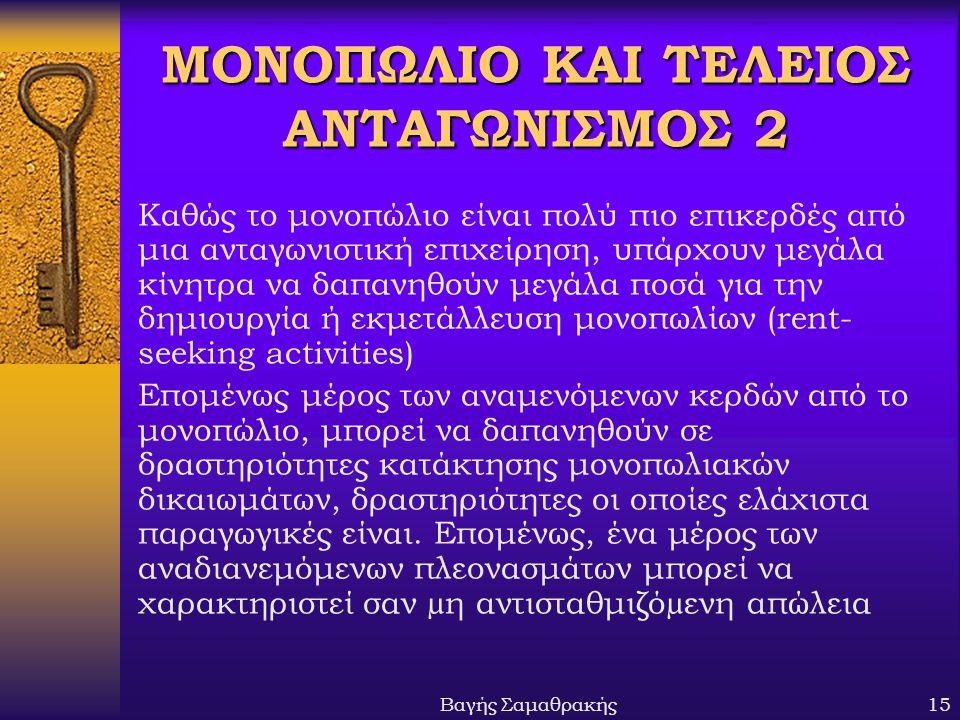 ΜΟΝΟΠΩΛΙΟ ΚΑΙ ΤΕΛΕΙΟΣ ΑΝΤΑΓΩΝΙΣΜΟΣ 2