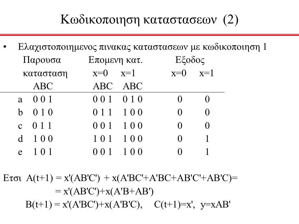 Κωδικοποιηση καταστασεων (2)