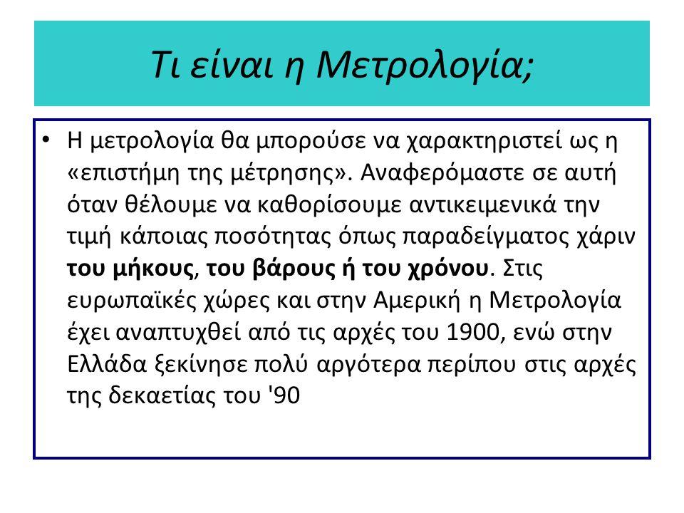 Τι είναι η Μετρολογία;