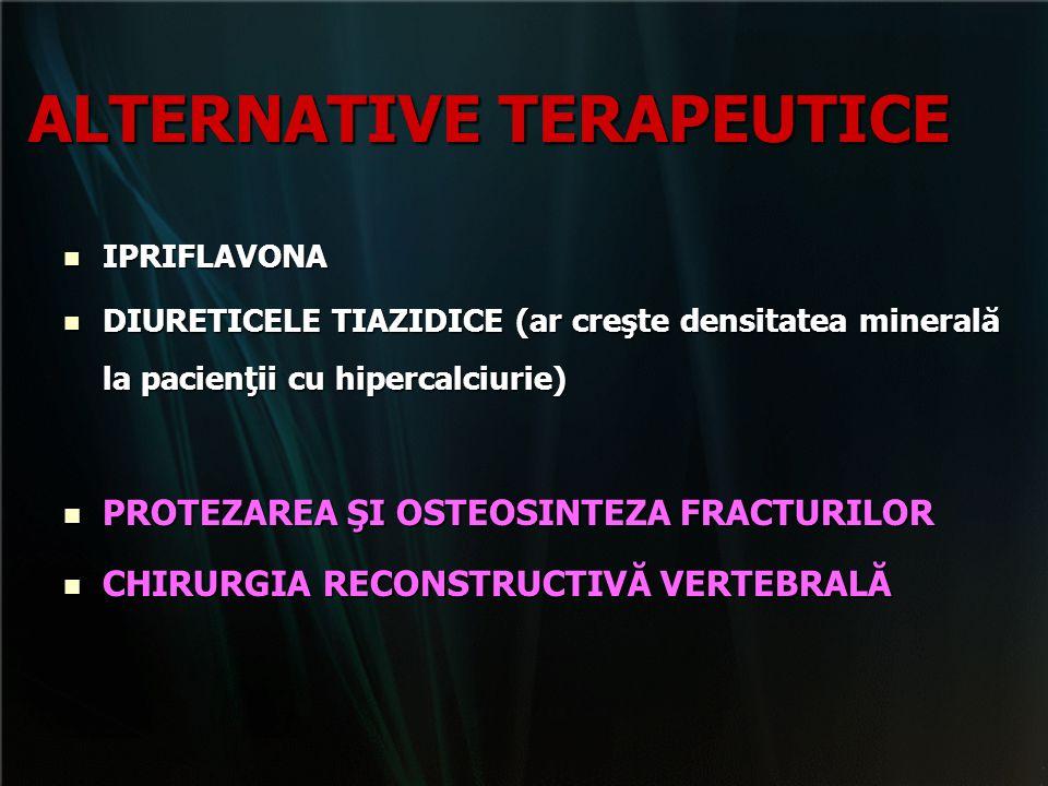 ALTERNATIVE TERAPEUTICE