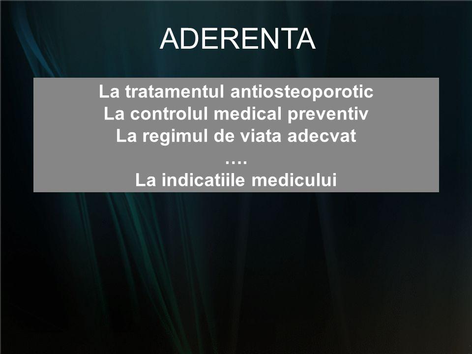 ADERENTA La tratamentul antiosteoporotic