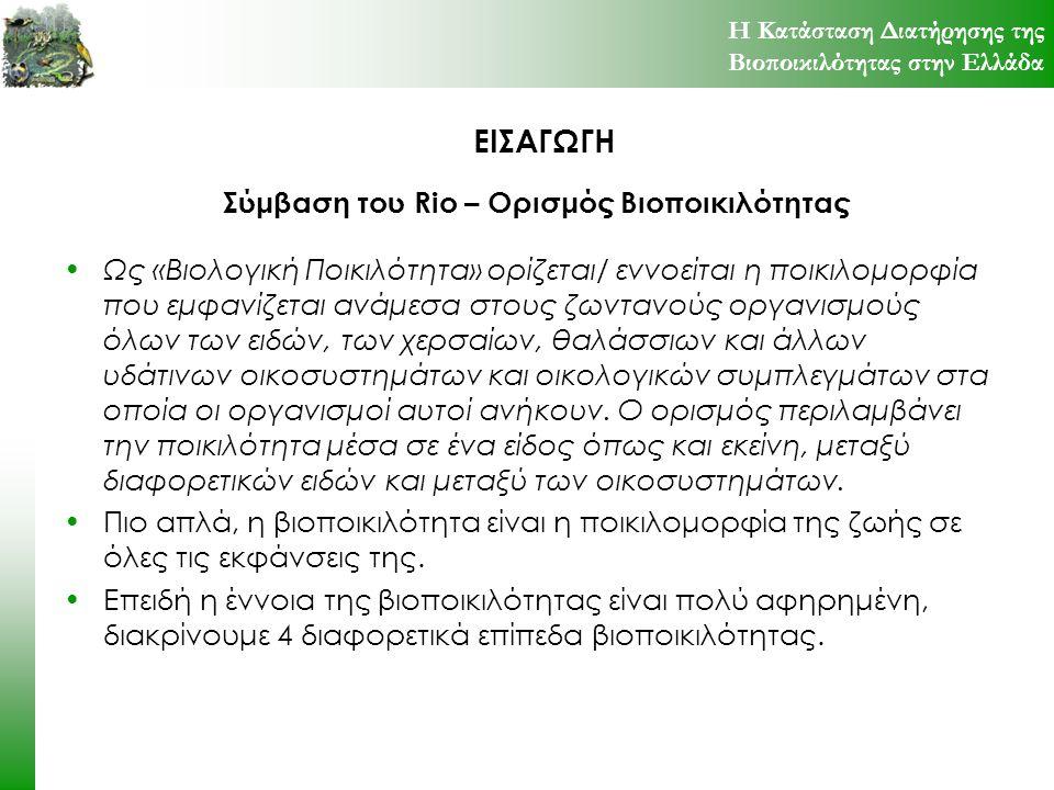 Σύμβαση του Rio – Ορισμός Βιοποικιλότητας