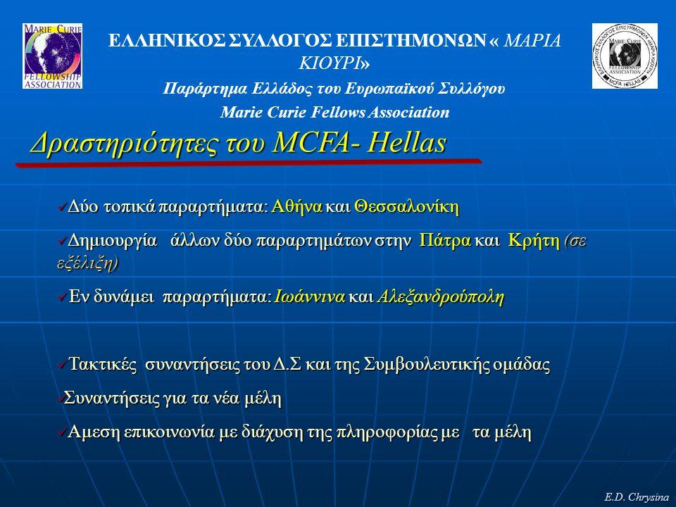 Δραστηριότητες του MCFA- Hellas