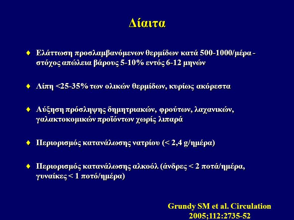 Grundy SM et al. Circulation 2005;112:2735-52