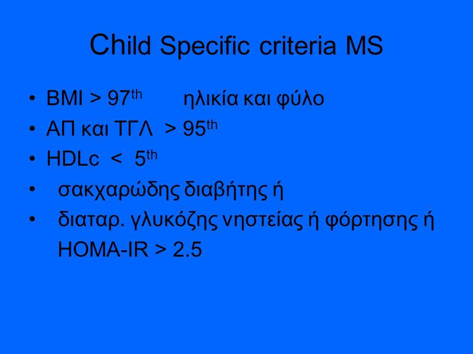 Child Specific criteria MS