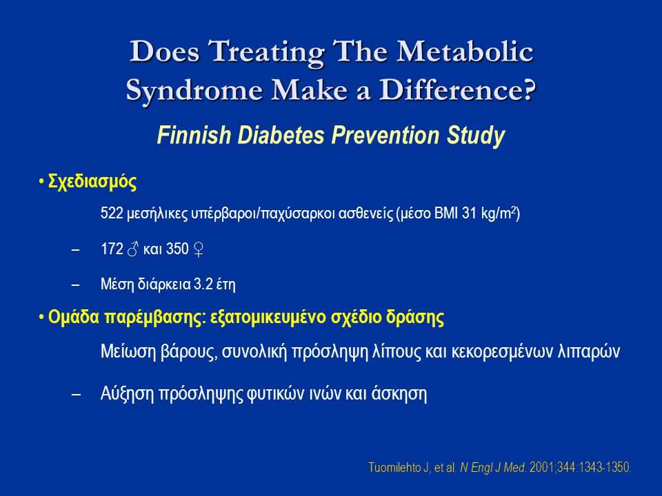 Does Treating The Metabolic Syndrome Make a Difference