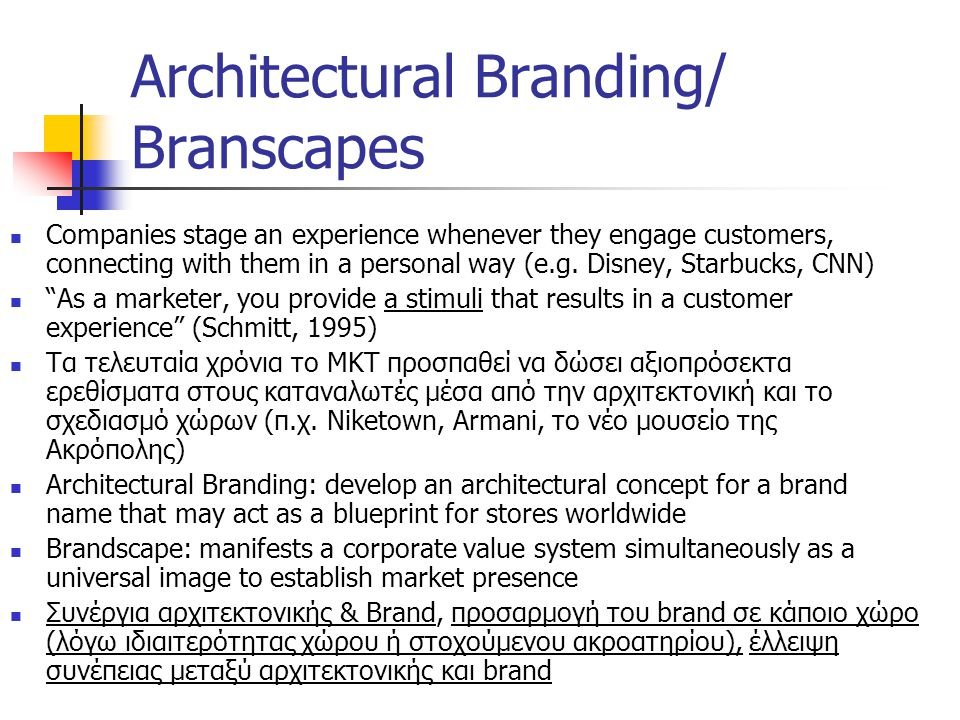 Architectural Branding/ Branscapes