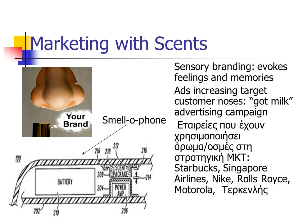 Marketing with Scents Sensory branding: evokes feelings and memories