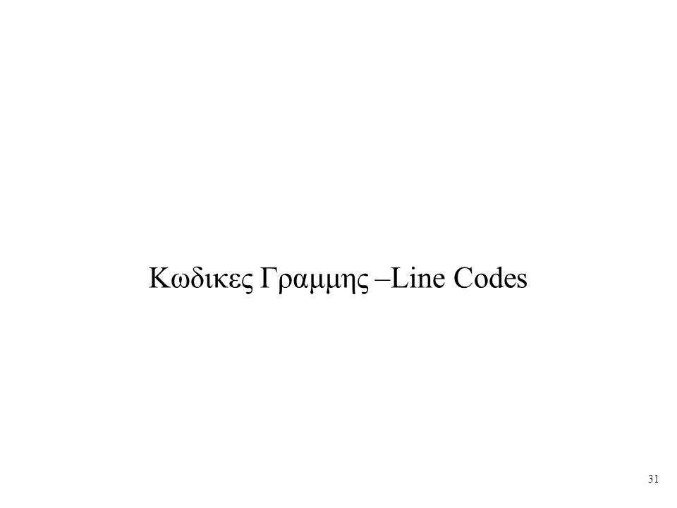 Κωδικες Γραμμης –Line Codes