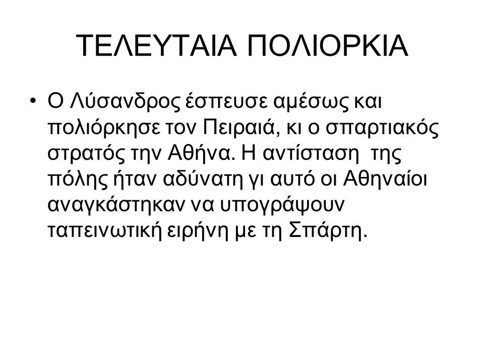ΤΕΛΕΥΤΑΙΑ ΠΟΛΙΟΡΚΙΑ