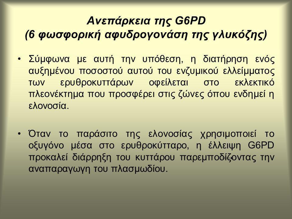 Ανεπάρκεια της G6PD (6 φωσφορική αφυδρογονάση της γλυκόζης)