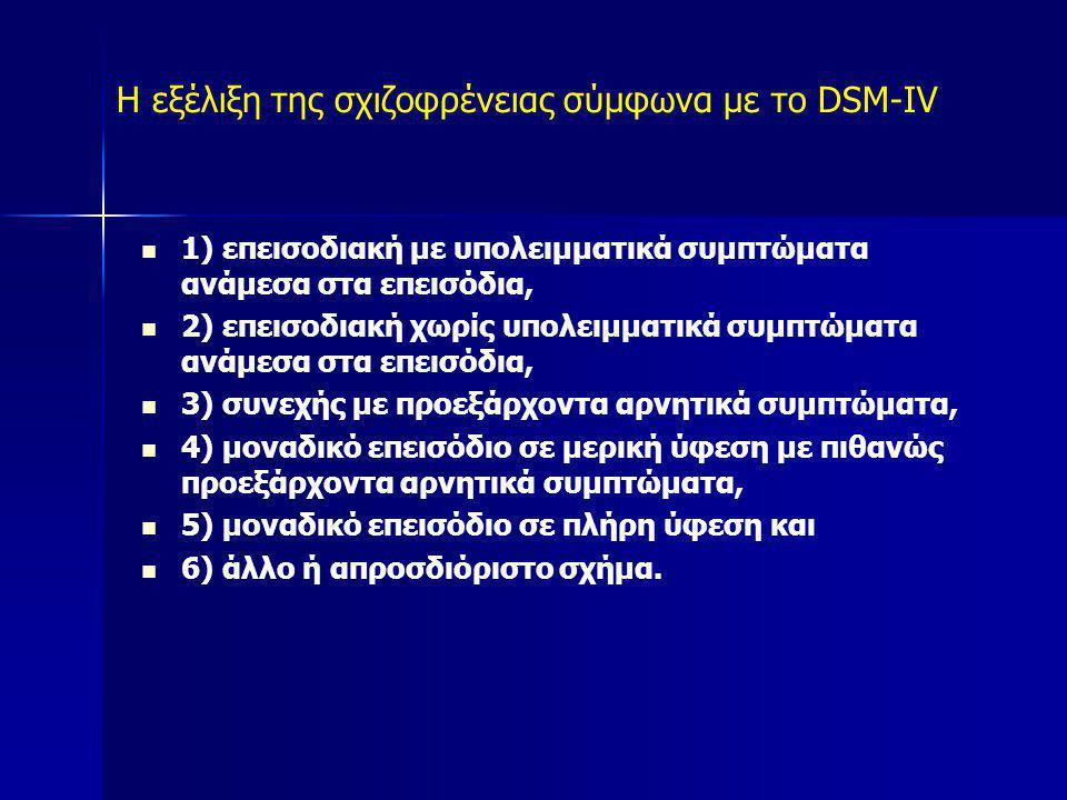 Η εξέλιξη της σχιζοφρένειας σύμφωνα με το DSM-IV