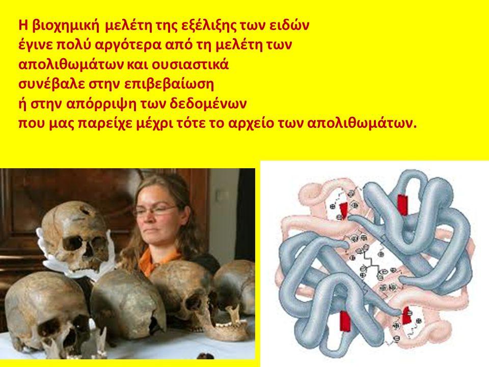 Η βιοχημική μελέτη της εξέλιξης των ειδών