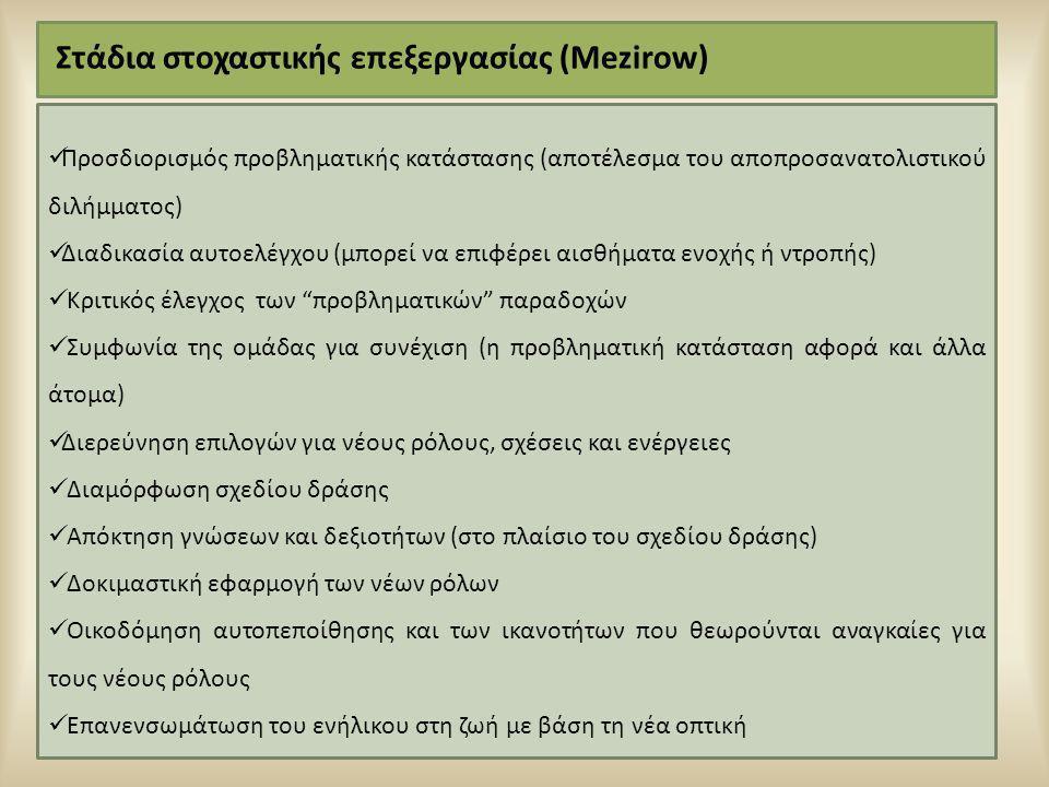 Στάδια στοχαστικής επεξεργασίας (Mezirow)