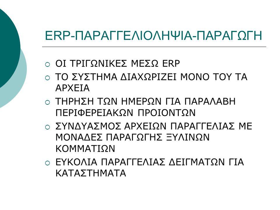 ERP-ΠΑΡΑΓΓΕΛΙΟΛΗΨΙΑ-ΠΑΡΑΓΩΓΗ