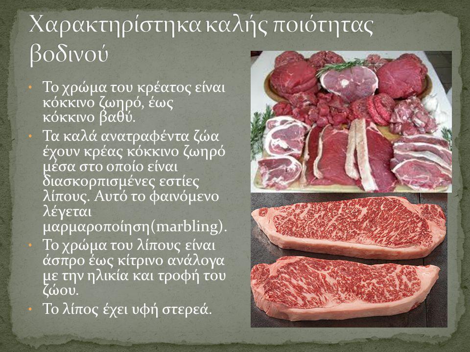 Χαρακτηρίστηκα καλής ποιότητας βοδινού
