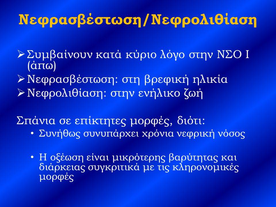 Νεφρασβέστωση/Νεφρολιθίαση