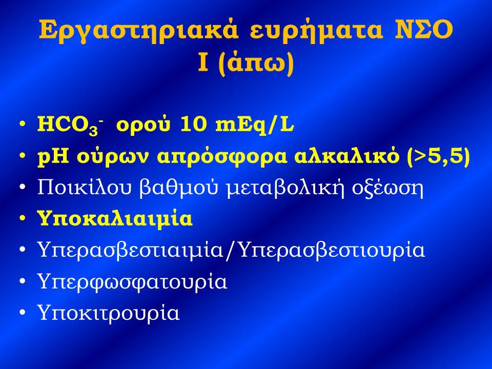 Εργαστηριακά ευρήματα ΝΣΟ I (άπω)