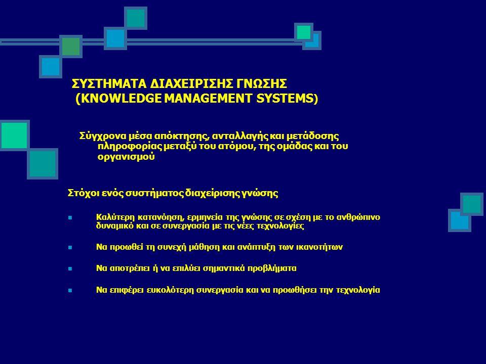 ΣΥΣΤΗΜΑΤΑ ΔΙΑΧΕΙΡΙΣΗΣ ΓΝΩΣΗΣ (KNOWLEDGE MANAGEMENT SYSTEMS)