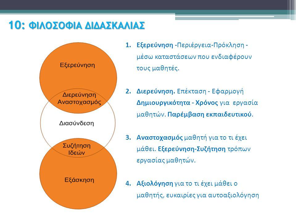 10: ΦΙΛΟΣΟΦΙΑ ΔΙΔΑΣΚΑΛΙΑΣ