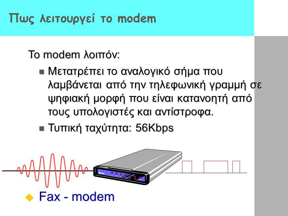 Πως λειτουργεί το modem