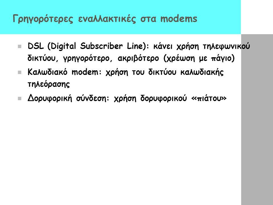 Γρηγορότερες εναλλακτικές στα modems