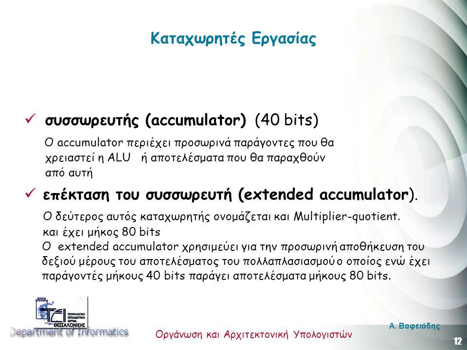συσσωρευτής (accumulator) (40 bits)