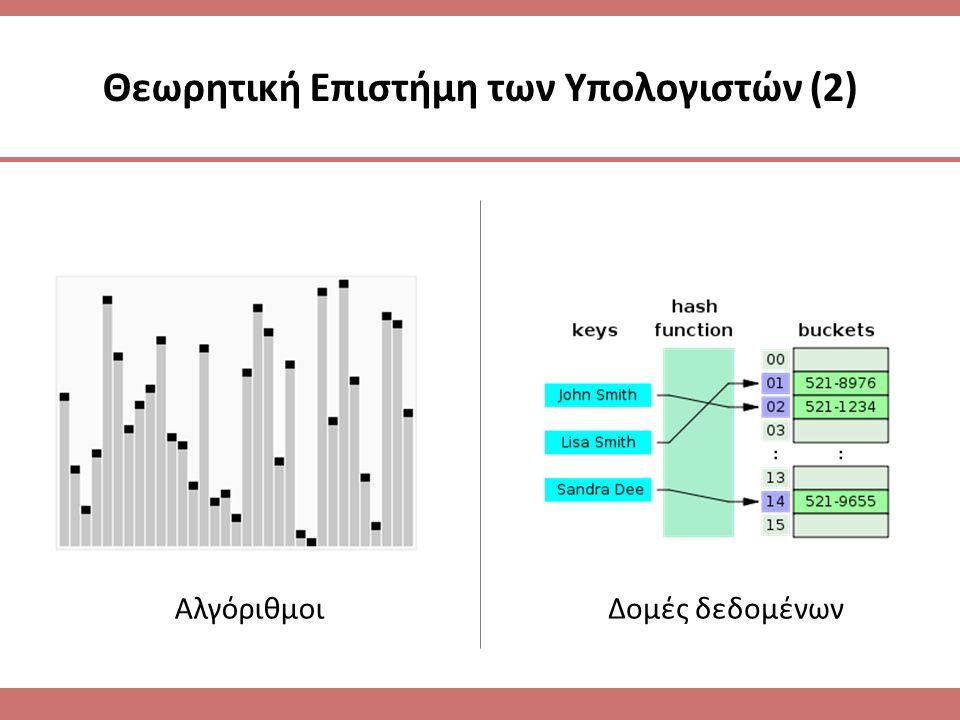 Θεωρητική Επιστήμη των Υπολογιστών (2)