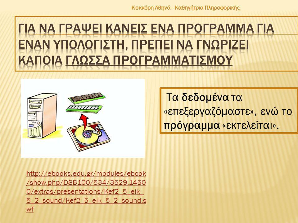 Κοκκόρη Αθηνά - Καθηγήτρια Πληροφορικής