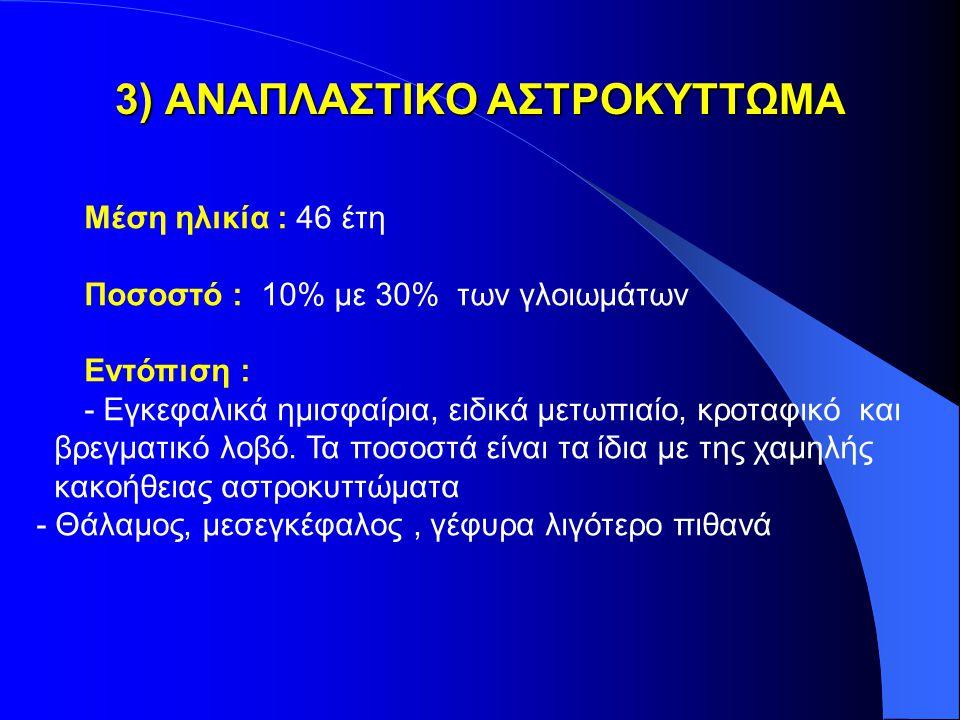 3) ΑΝΑΠΛΑΣΤΙΚΟ ΑΣΤΡΟΚΥΤΤΩΜΑ
