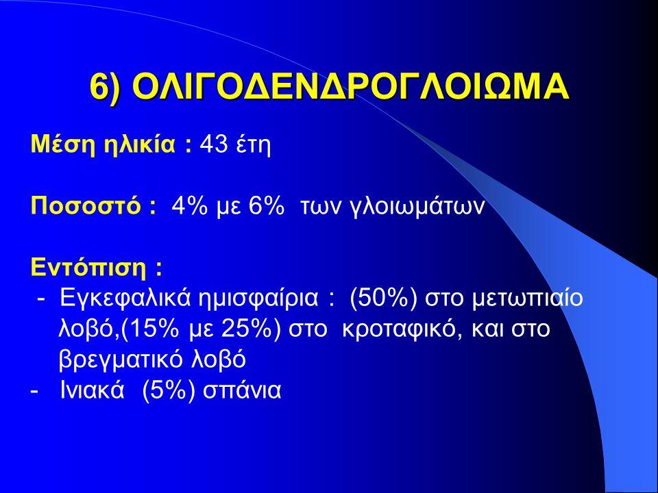 6) ΟΛΙΓΟΔΕΝΔΡΟΓΛΟΙΩΜΑ Μέση ηλικία : 43 έτη