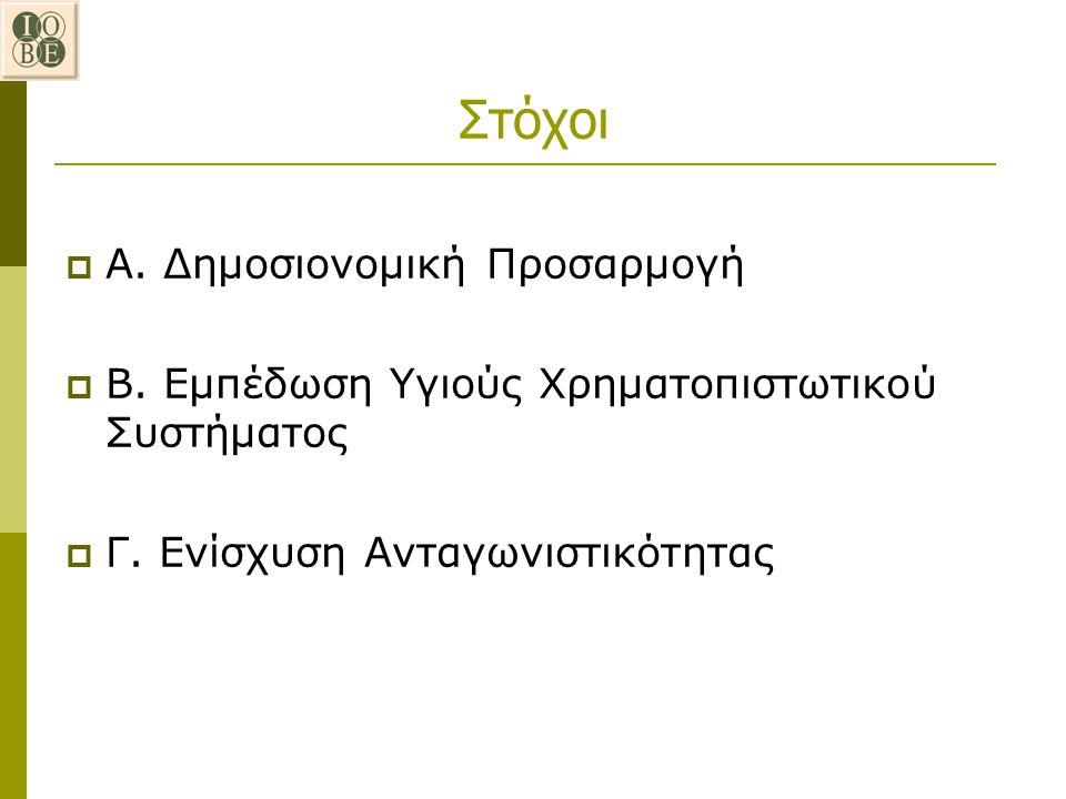 Στόχοι Α. Δημοσιονομική Προσαρμογή