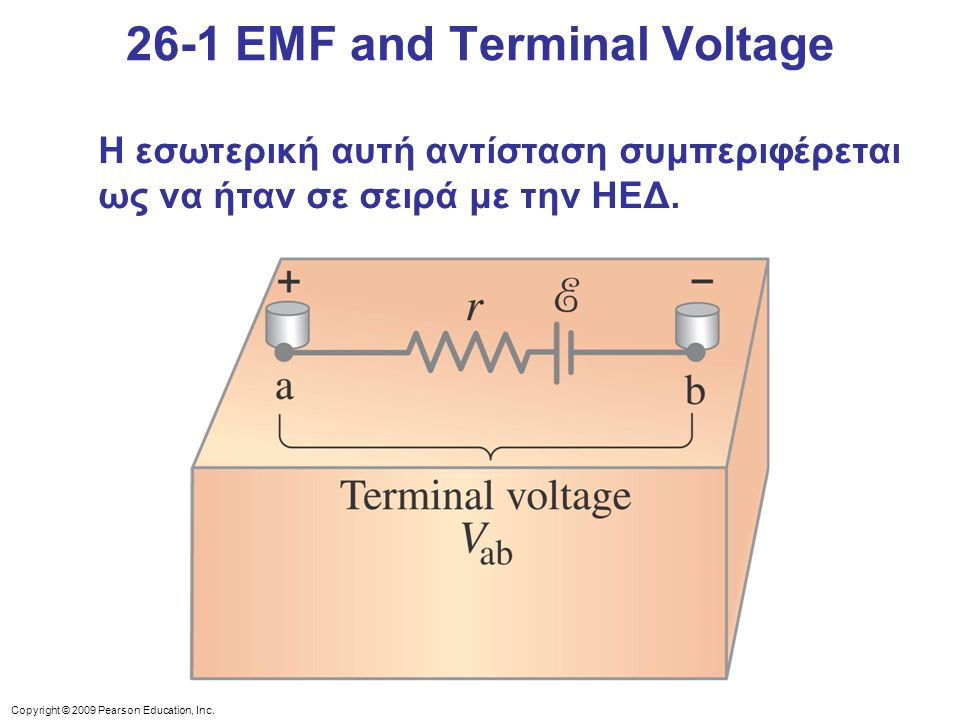 26-1 EMF and Terminal Voltage