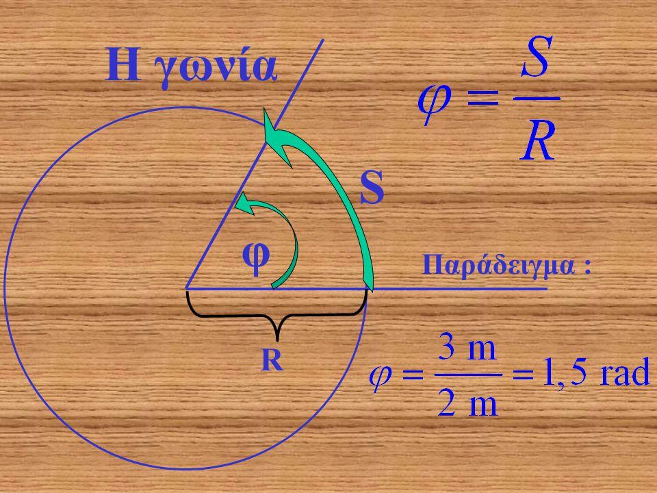 Η γωνία S φ Παράδειγμα : R