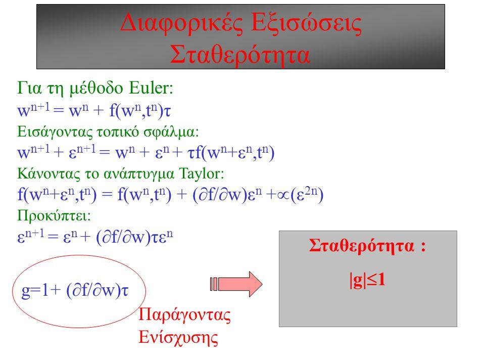 Διαφορικές Εξισώσεις Σταθερότητα