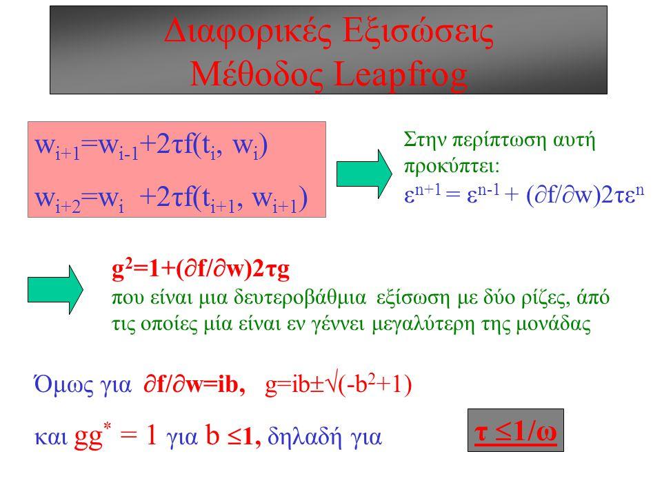 Διαφορικές Εξισώσεις Mέθοδος Leapfrog
