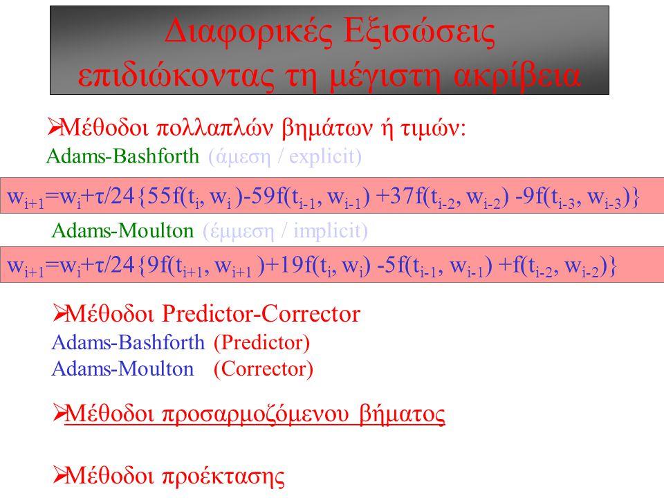 Διαφορικές Εξισώσεις επιδιώκοντας τη μέγιστη ακρίβεια