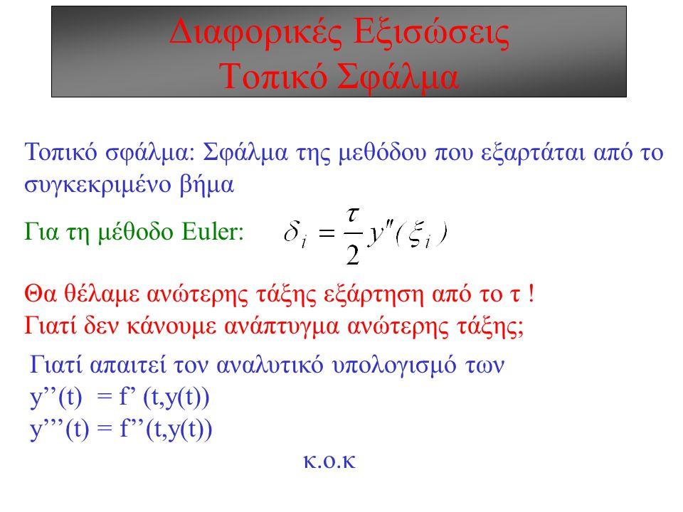Διαφορικές Εξισώσεις Τοπικό Σφάλμα