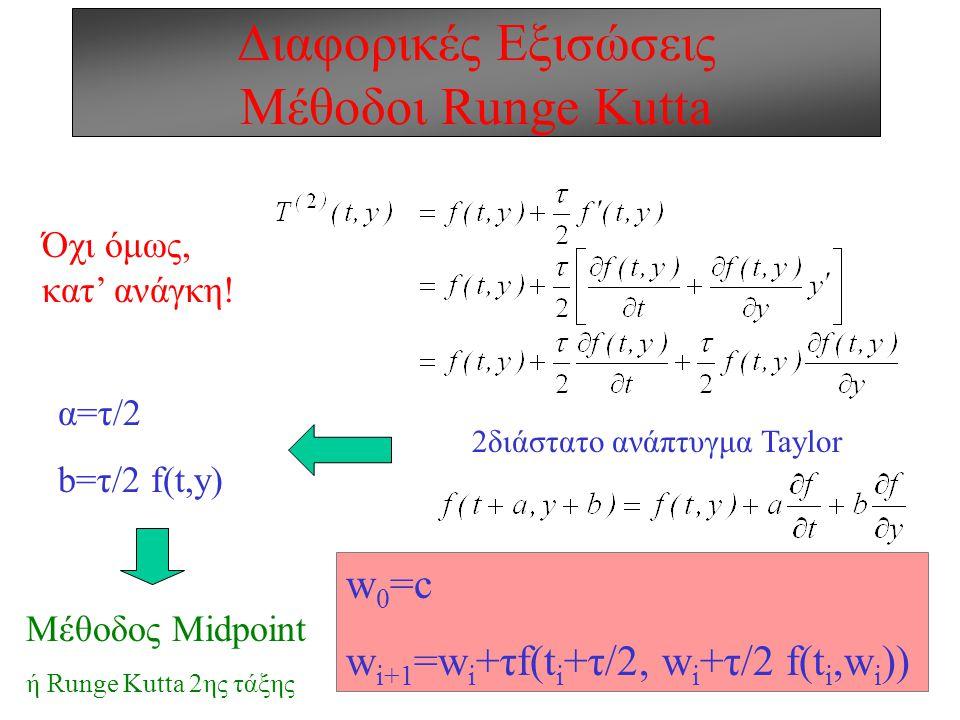 Διαφορικές Εξισώσεις Μέθοδοι Runge Kutta