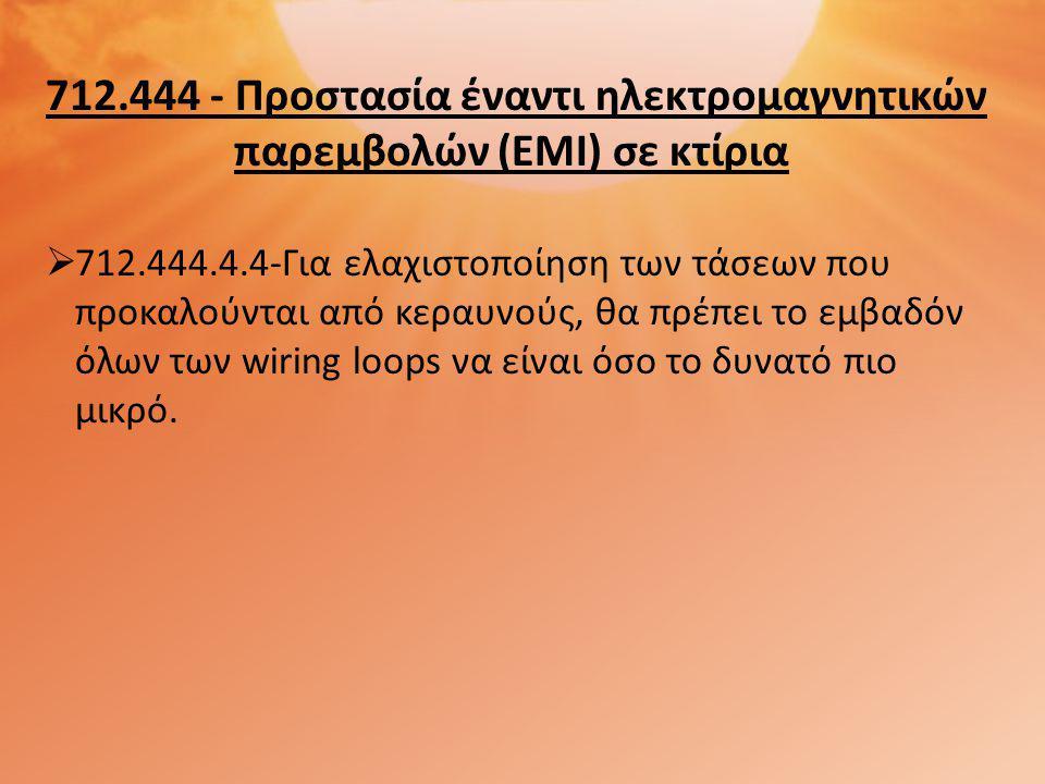 712. 444 - Προστασία έναντι ηλεκτρομαγνητικών