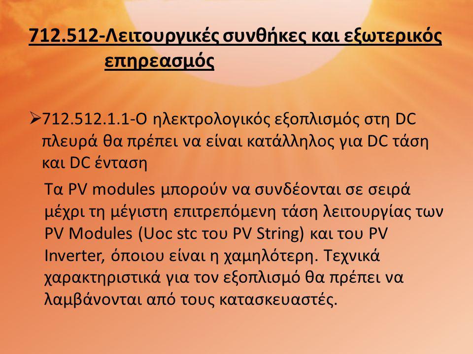 712.512-Λειτουργικές συνθήκες και εξωτερικός επηρεασμός
