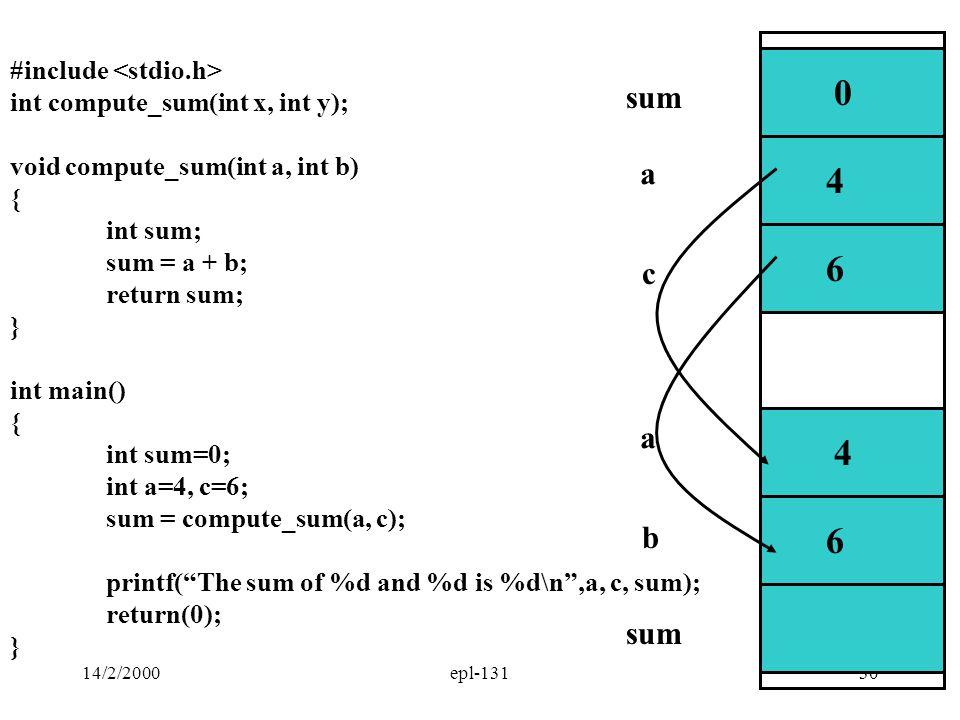 4 6 4 6 sum a c a b sum #include <stdio.h>