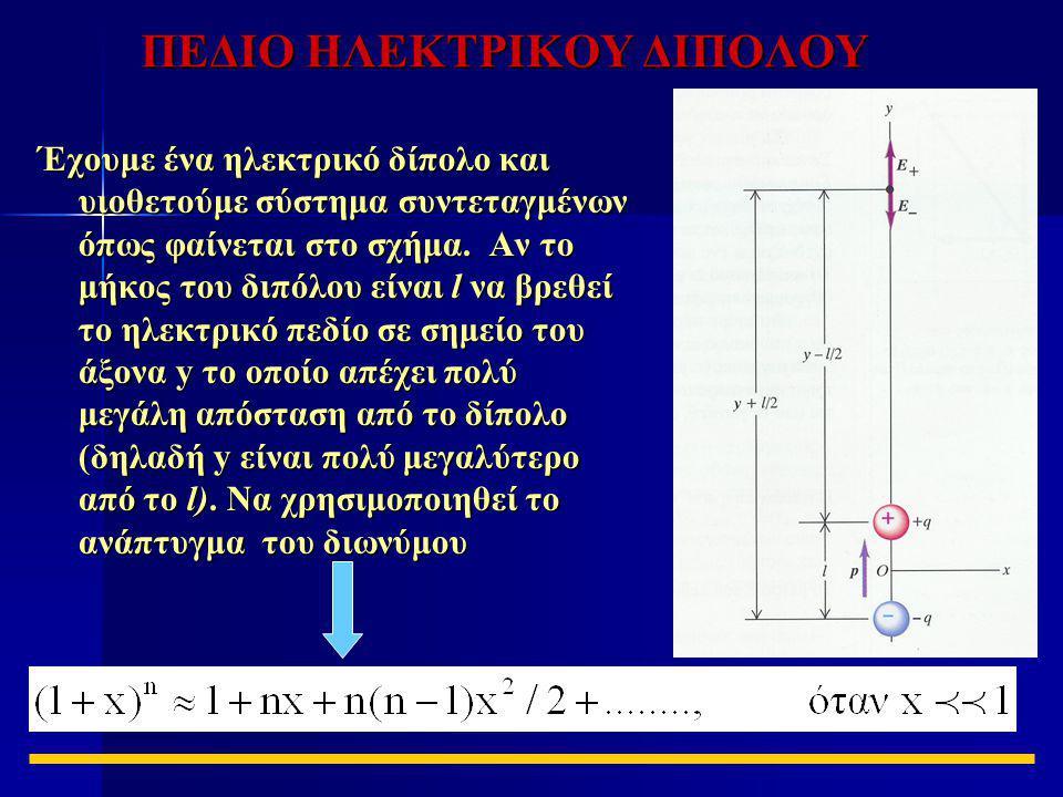 ΠΕΔΙΟ ΗΛΕΚΤΡΙΚΟΥ ΔΙΠΟΛΟΥ