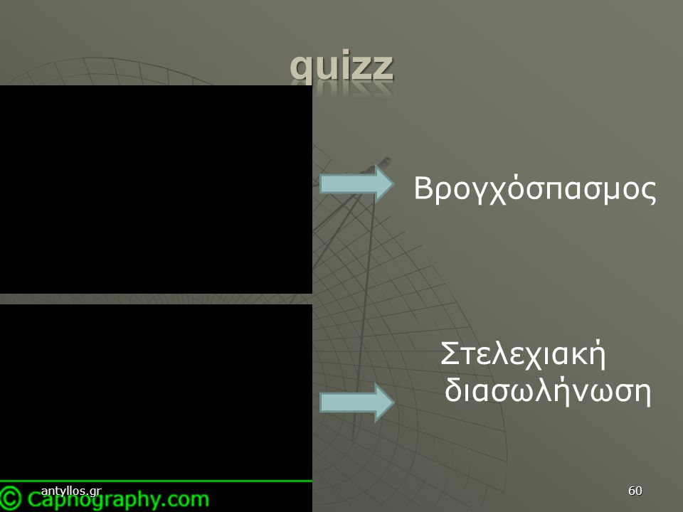 quizz Βρογχόσπασμος Στελεχιακή διασωλήνωση antyllos.gr