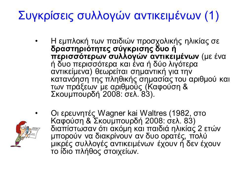Συγκρίσεις συλλογών αντικειμένων (1)