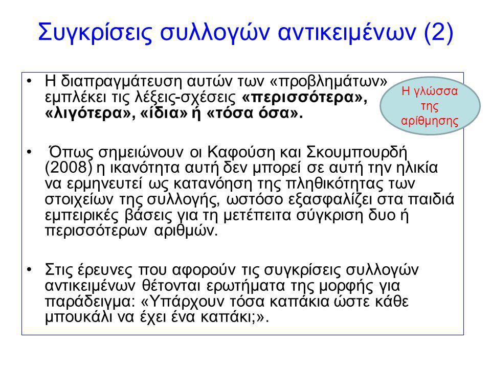 Συγκρίσεις συλλογών αντικειμένων (2)
