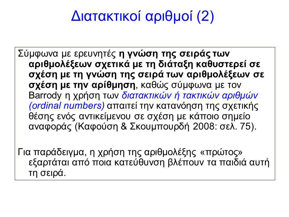 Διατακτικοί αριθμοί (2)