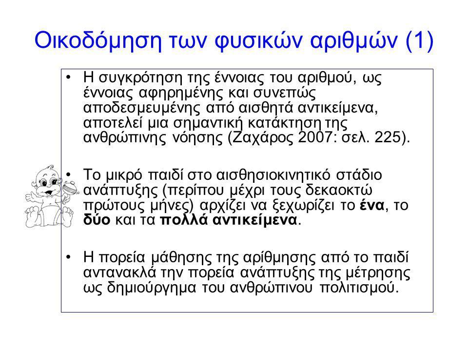 Οικοδόμηση των φυσικών αριθμών (1)